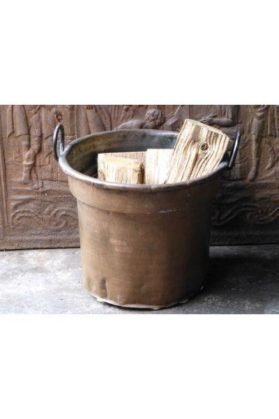 Antiker Kaminholzkorb aus 15,31