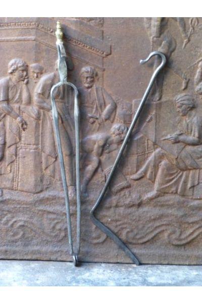 Antikes Holländisches Kaminbesteck aus 32,33