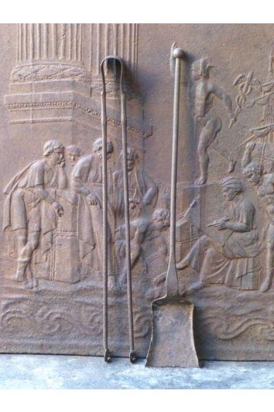 Antikes Französisches Kaminbesteck aus 15