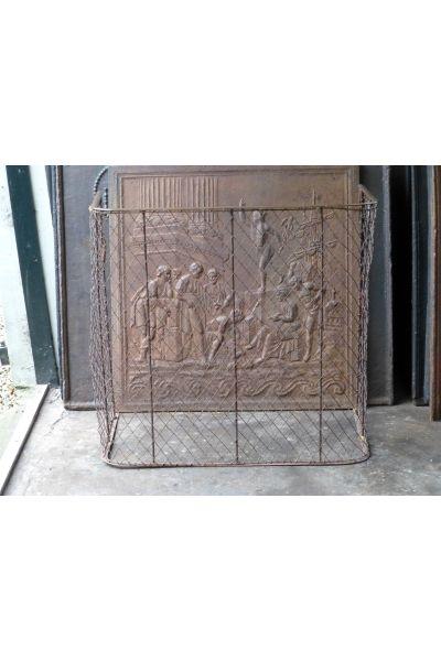 Antiker Kaminschutzgitter aus 15,16
