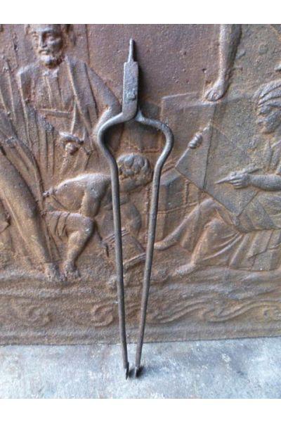 Antike Holländische Kaminzange aus 15