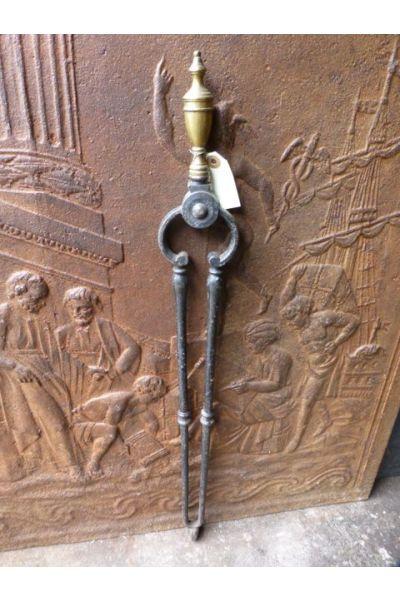 Antike Englische Kaminzange aus 15,16