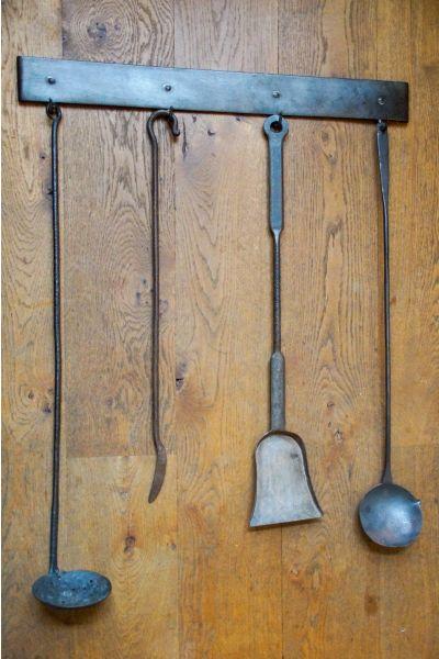 Antikes Holländisches Kaminbesteck aus 15