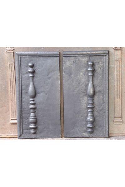 Kaminplatte 'Säulen des Herkules' aus 14