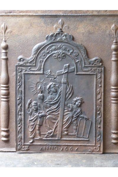 Kaminplatte 'Der Glaube' aus 14