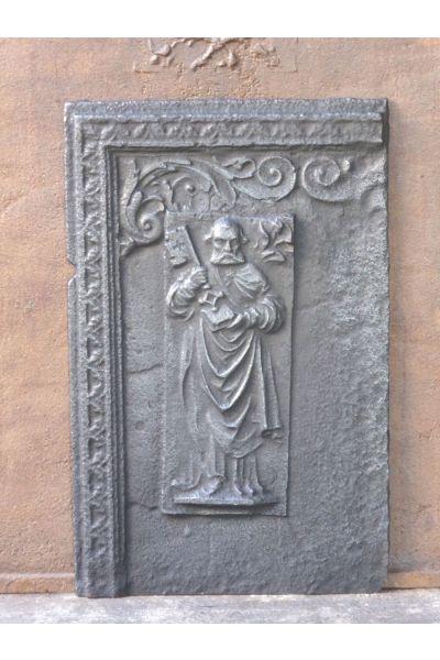 Kaminplatte 'Der heilige Petrus' aus 14