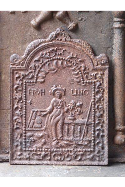 Kaminplatte 'Flora' aus 14