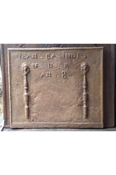Kaminplatte 'Marianne mit Phrygischen Mütze' aus 14