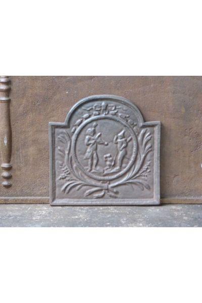 Kaminplatte 'Straßenkünstler' aus 14