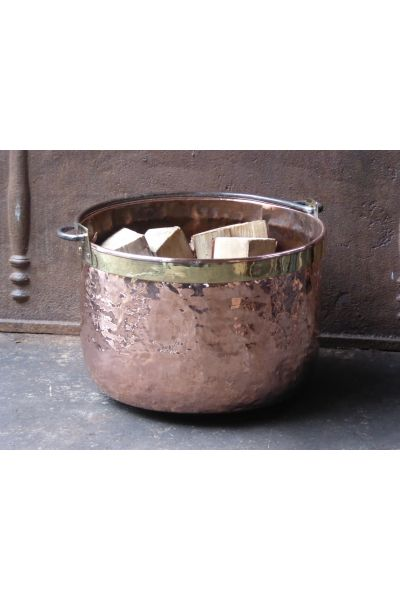 Holzkorb Poliertes Kupfer aus 15,33,47