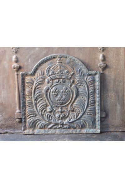 Kaminplatte 'Wappen von Frankreich' aus 14