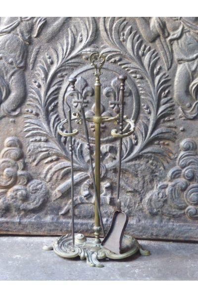 Antikes Französisches Kaminbesteck aus 15,16