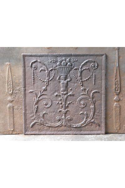 Kaminplatte 'Dekoration' aus 14