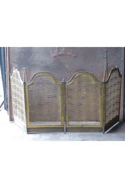 Antikes Französisches Funkenschutzgitter aus 16
