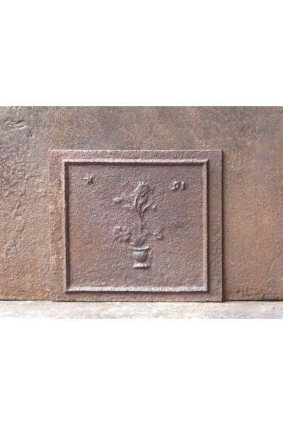Kaminplatte 'Blumenkorb' aus 14