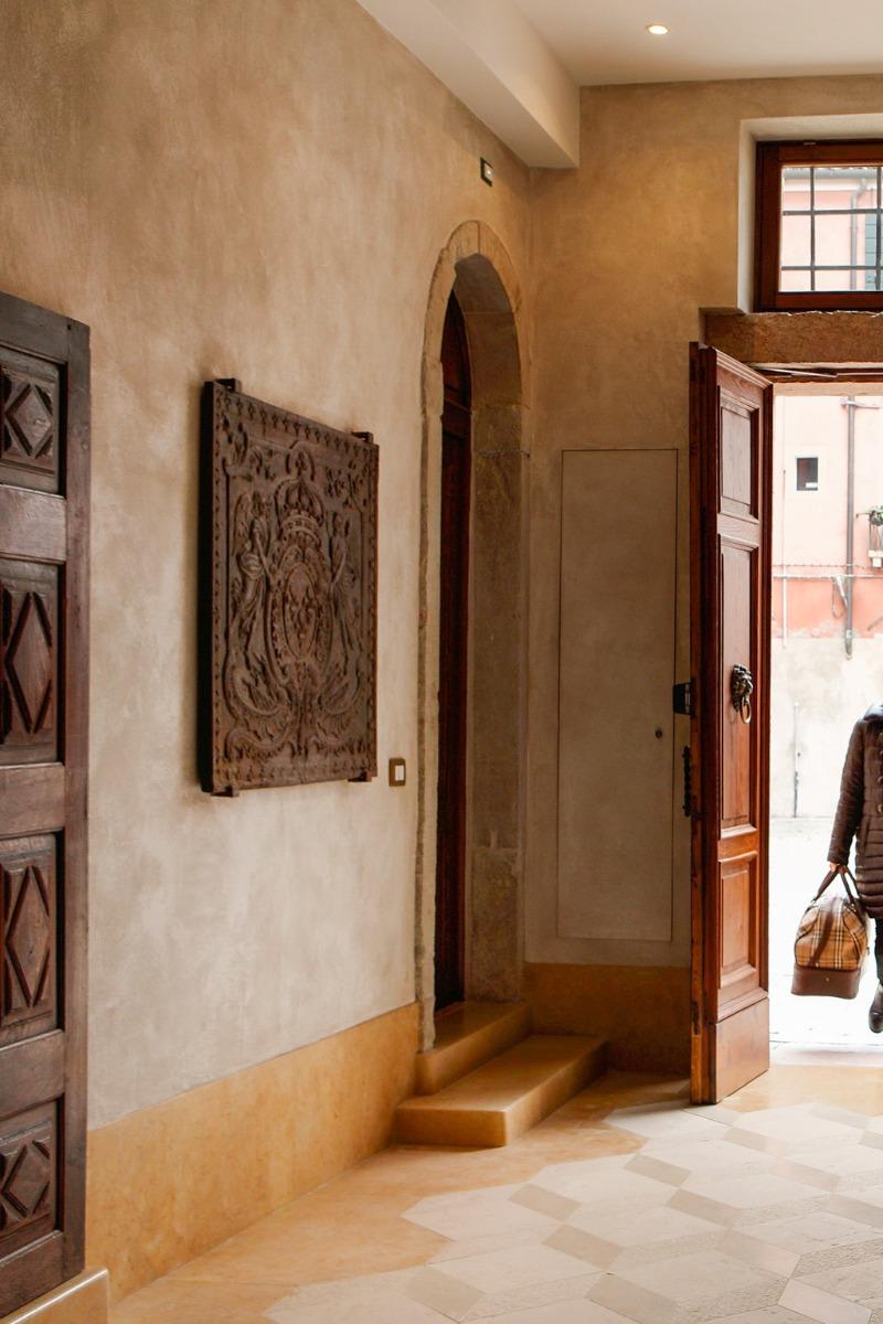 Kaminplatten als Dekoration in Venedig