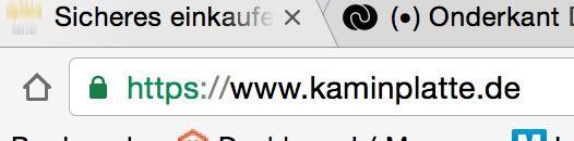 Sicheres einkaufen bei www.kaminplatte.de