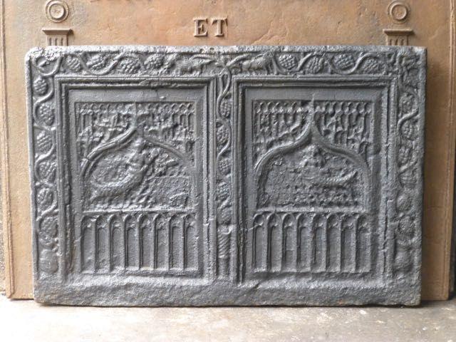 Gotik Kaminplatte